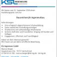 Ausbildungsplatz September 2018