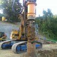 Neubau MFH Steig, Baugrubensicherung und Bohrpfahlfundation